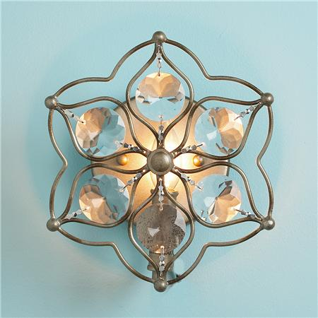 crystal flower sconce shades of light