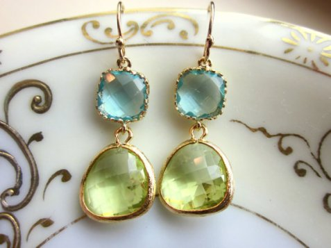 peridot etsy earrings