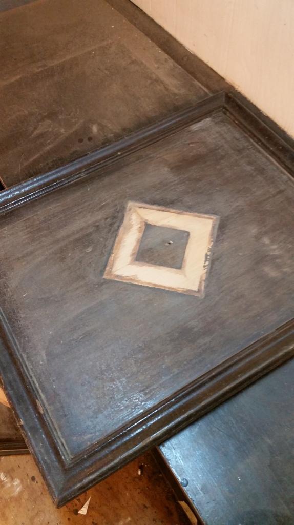 sanded cabinet door